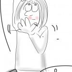 """Mein erstes Bild mit der App """"SketchBook"""" auf dem iPhone gezeichnet."""