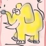 Schnell hingeschluderter Elefant (ich hatte Zeitnot)