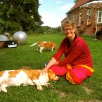 Lisa krault Co-Trainerin Wilma. Bisher kannten sich beide nur über Facebook.