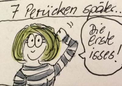 Sabine-Dinkel-Comic-Perücke